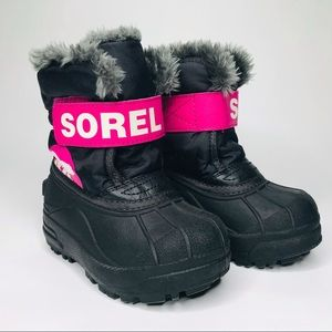 Sorel youth winter boots size 8